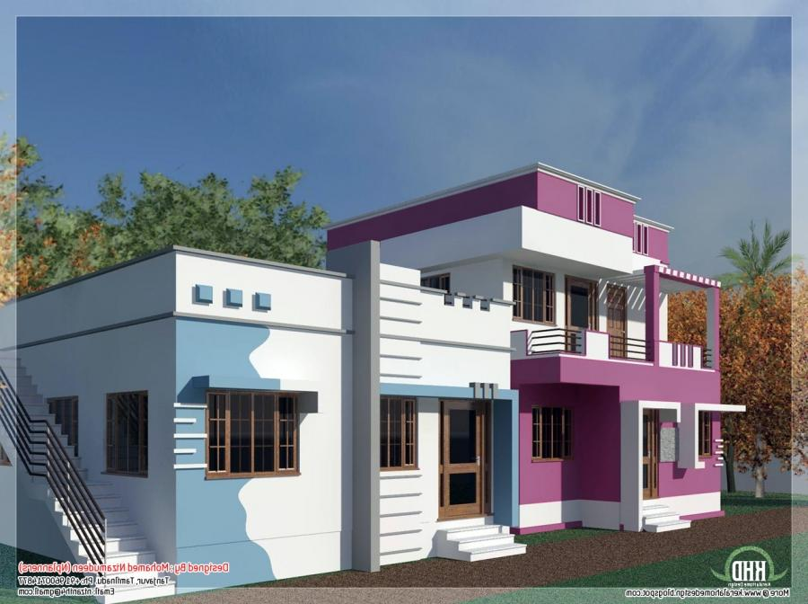 House front elevation photos tamilnadu for Tamilnadu house models