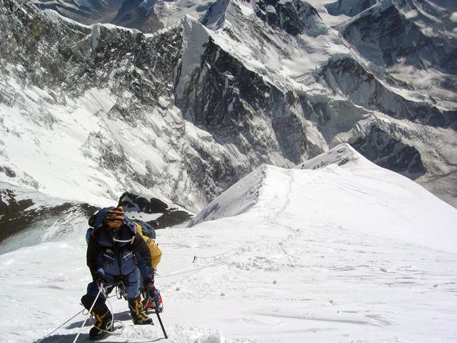 Kevin Flynn on The Balcony of the SE Ridge of Mt. Everest, Nepal,...