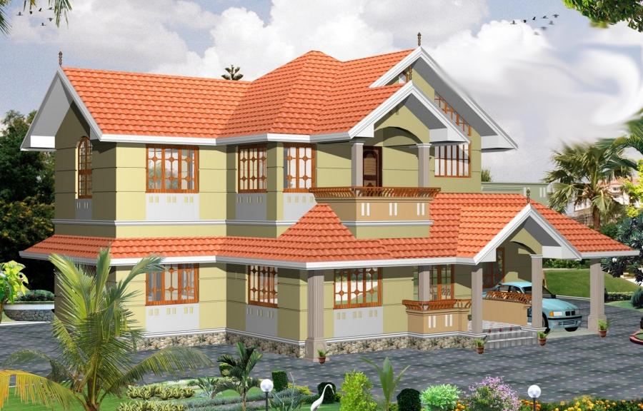 Kerala houses photo for Colonial style house plans kerala