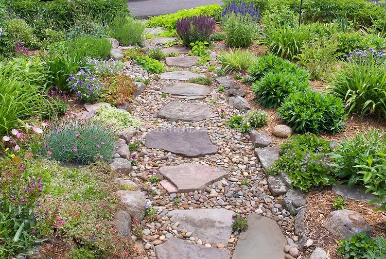 Sloping landscape design for Hillside rock garden designs