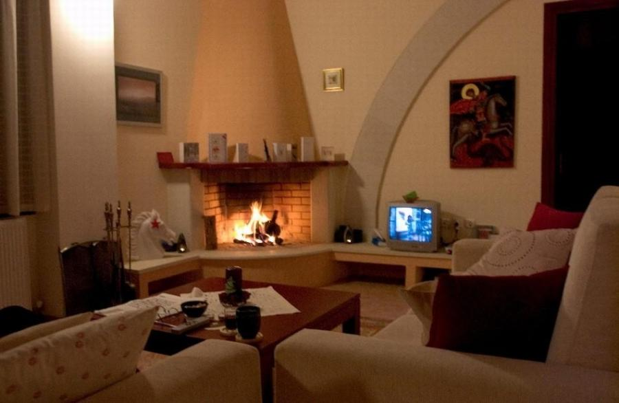 Living area; Living area with cozy fireplace ...