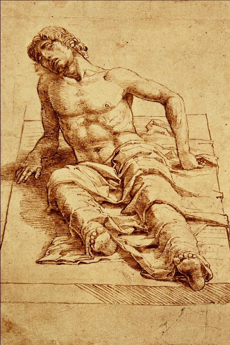 File:Man Laying on a Stone Slab - Andrea Mantegna.png