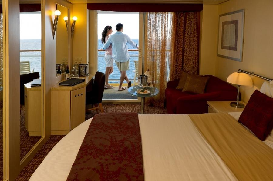 A balcony stateroom on Eclipse - specially designed by ladies for...