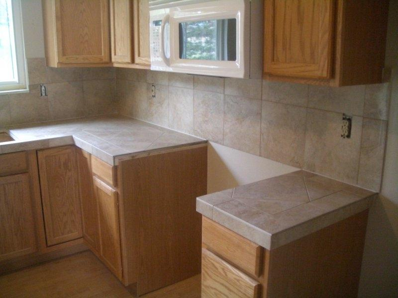 Photo ceramic tile countertop for Kitchen ideas with porcelain countertops