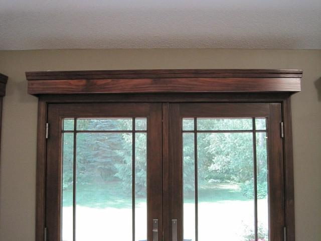 Unique Window Treatment Idea For French Doors...