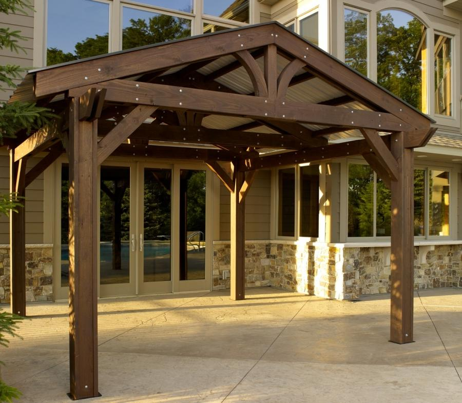 Photos of pergola roofs - Pergola with roof ...