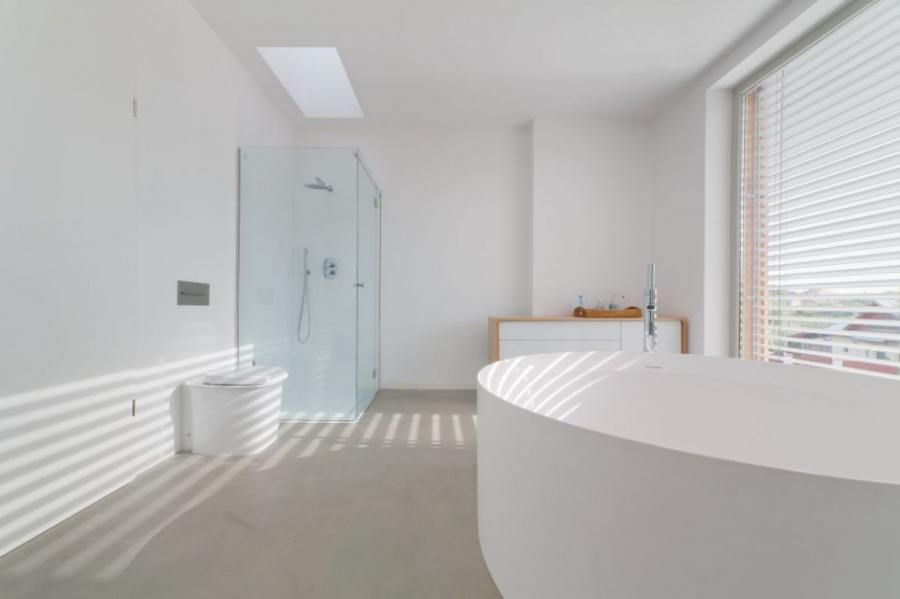 ... White Bathrooms Fantastic The Larix House Spacious White...