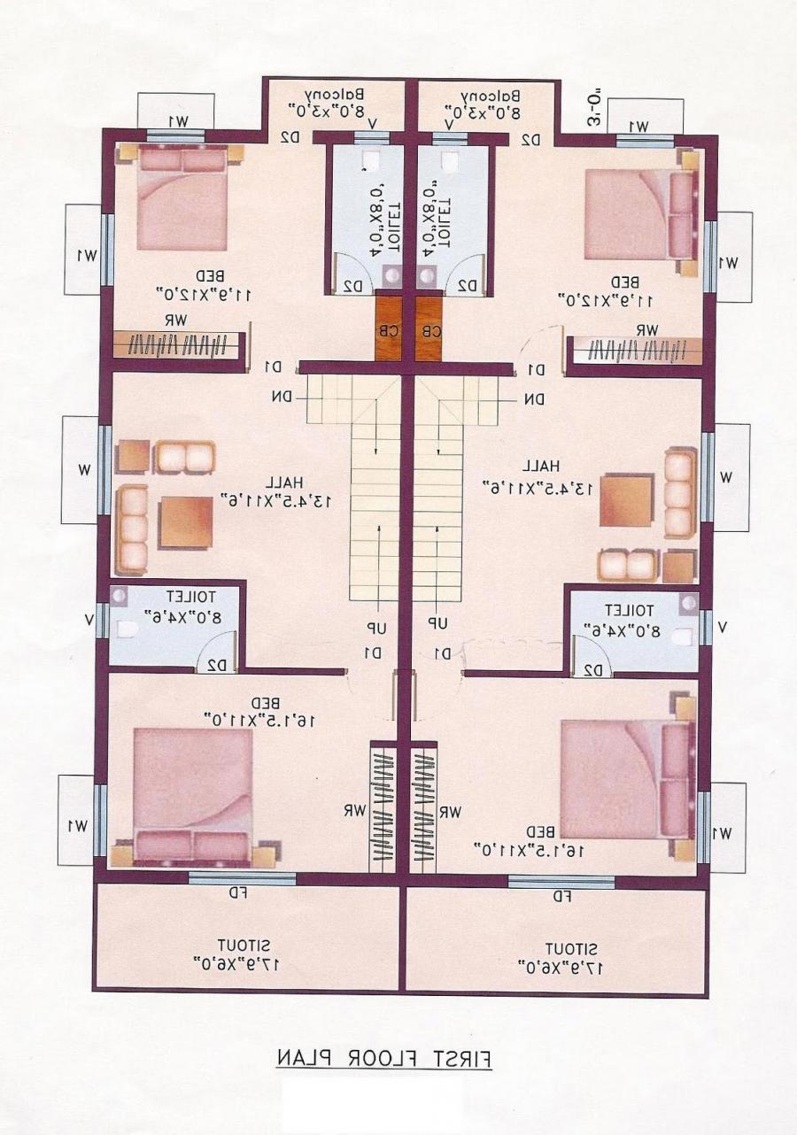 28 Indian Single House Floor Plan 840 Sq Ft Single