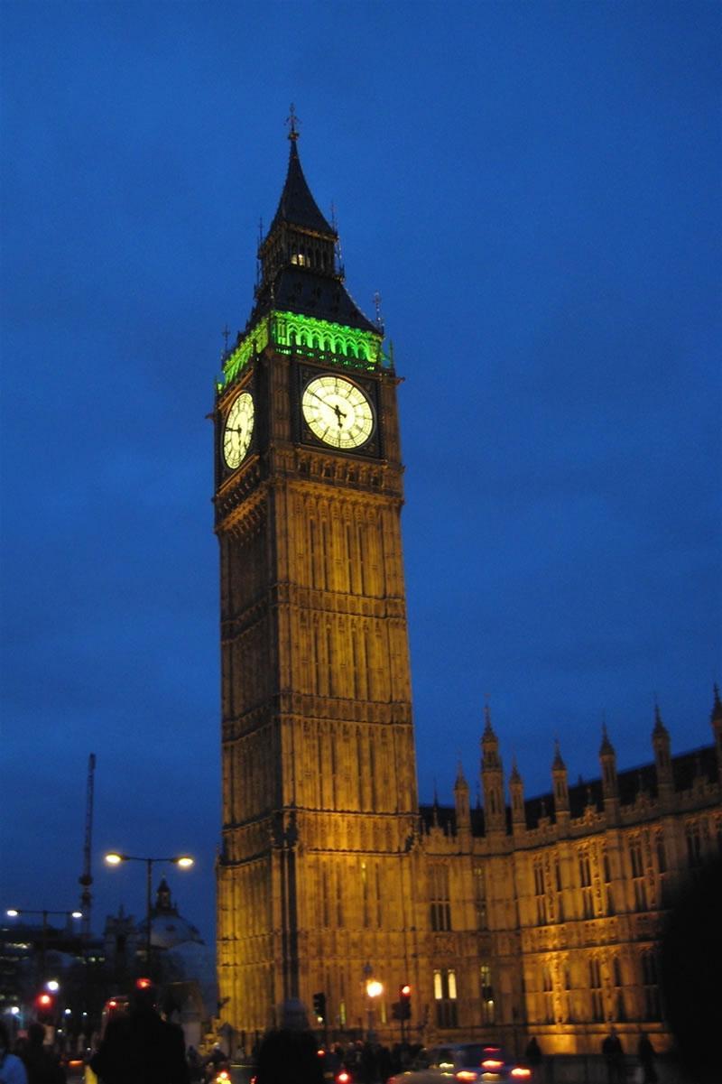Clock Tower Night Photo