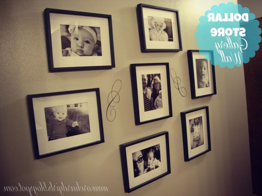 Above is my first hallway gallery. I filled dollar store frames...