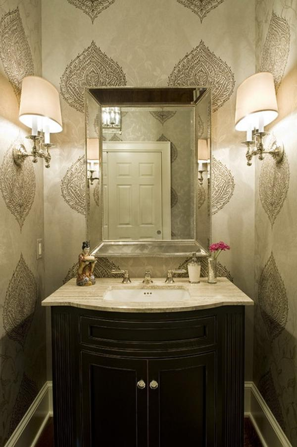 small powder room decorating ideas photos. Black Bedroom Furniture Sets. Home Design Ideas