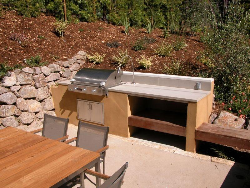 Simple Outdoor Kitchen Photos