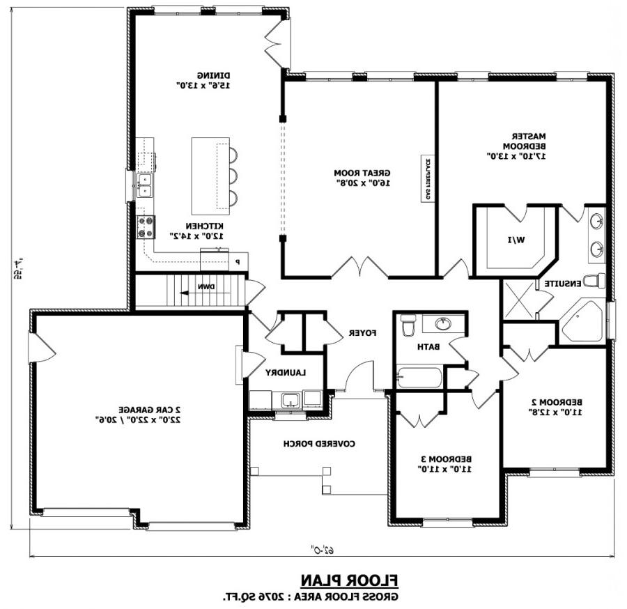 Bungalow house plans with photos canada for Custom home plans canada