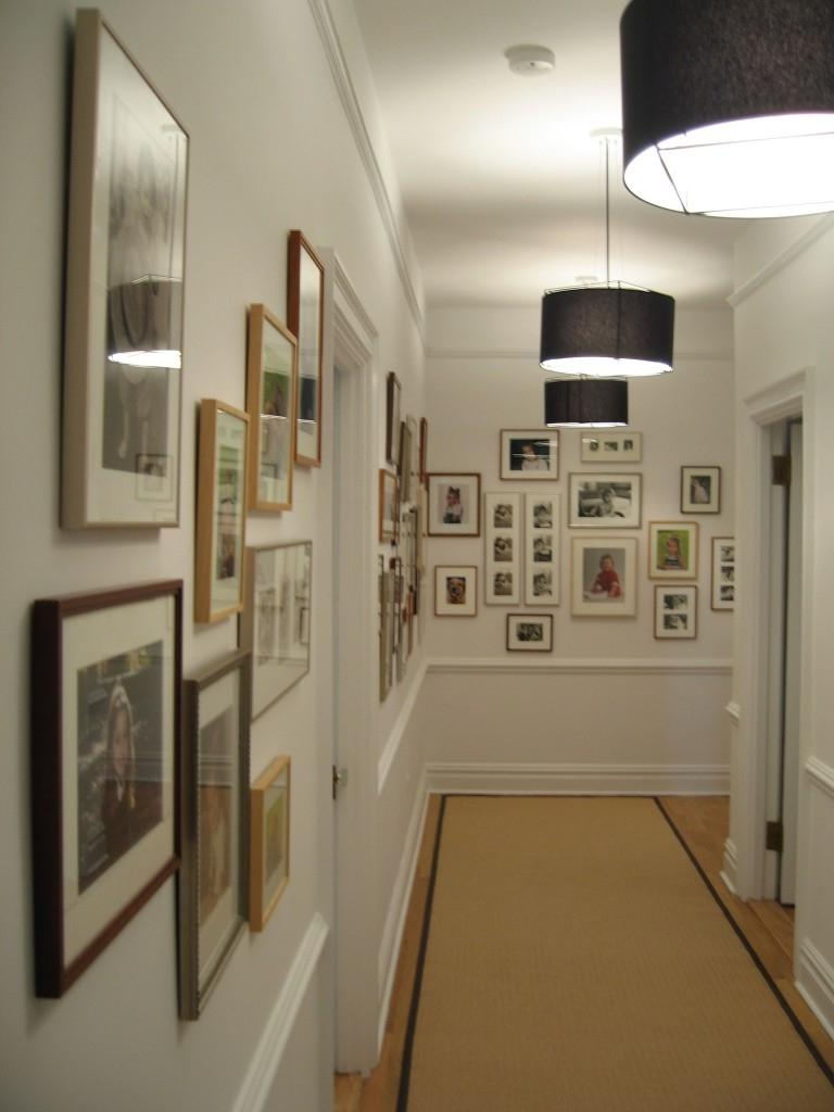 A hallway can be a great place to showcase your best photos....
