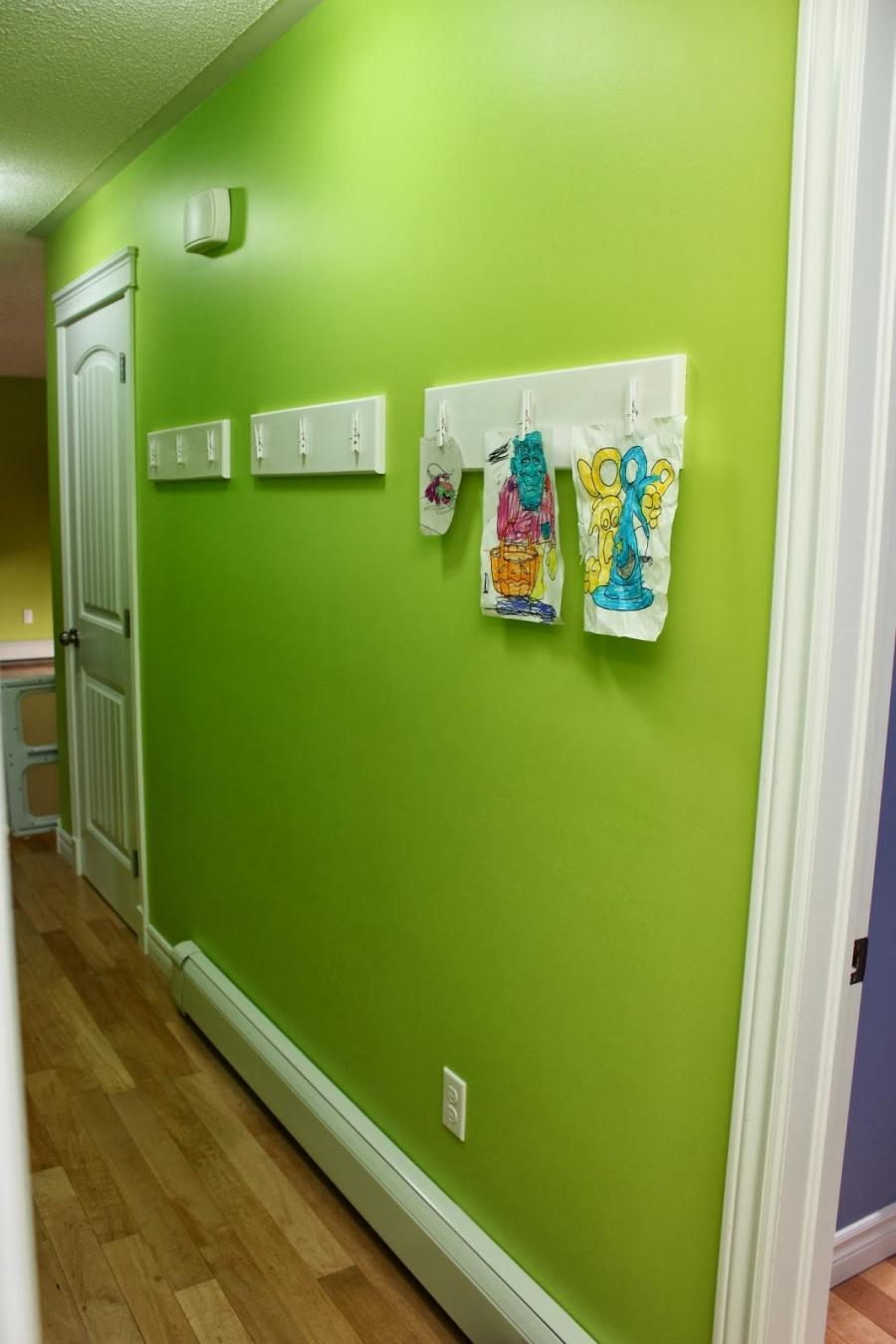 This gives the kids their own space, in our main hallway, to...