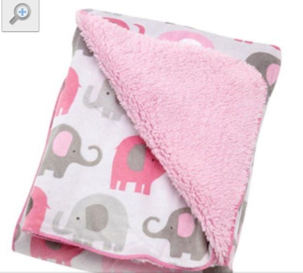 Pink Elephant Baby Blanket Wal-Mart