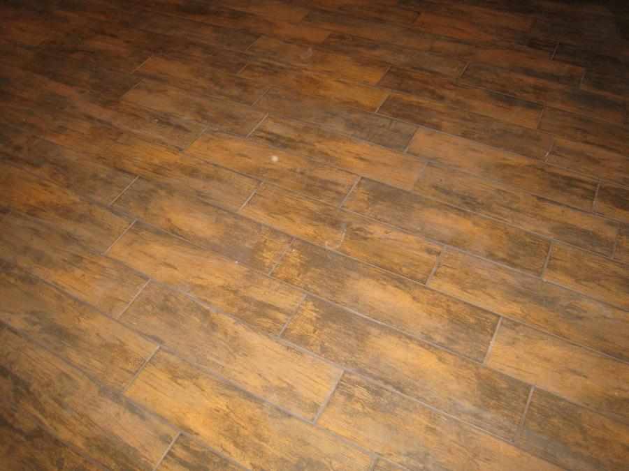 Ceramic tile that looks like hardwood flooring