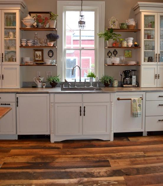 Buffalo New York Kitchen with Reclaimed Hardwoods Flooring...