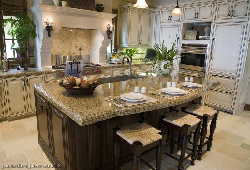 Gourmet kitchen photos for Gourmet kitchen island designs