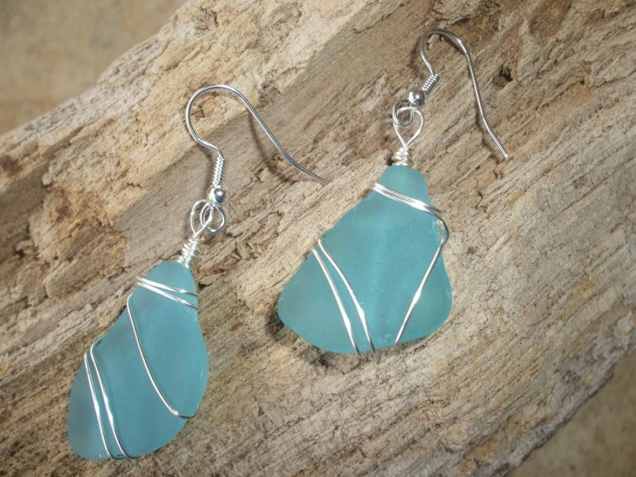 sea glass earrings photo