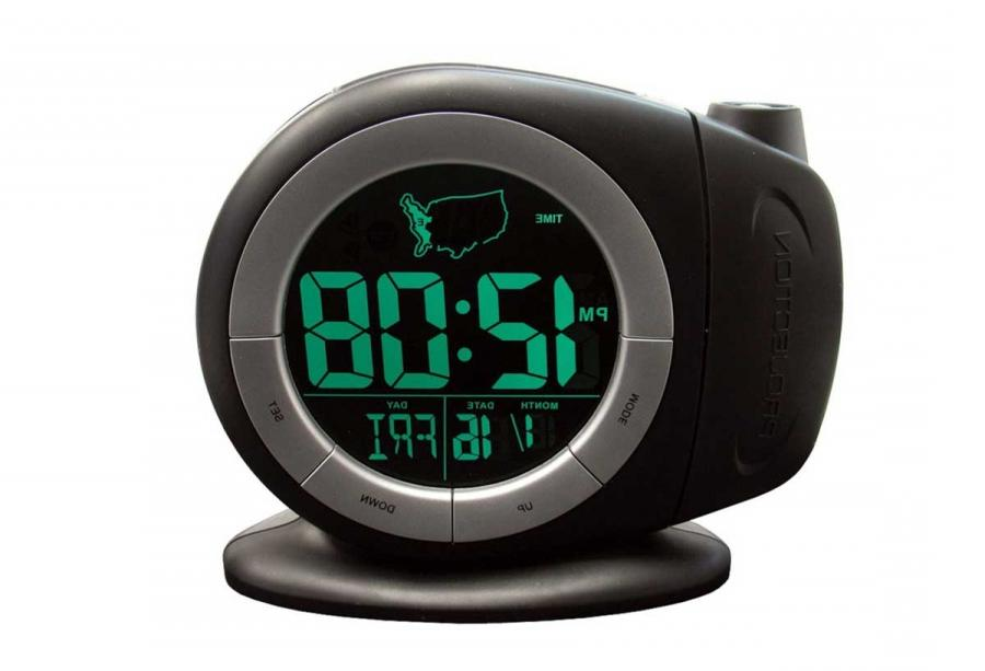 Elgin Time Ready Black LCD Projection Alarm Clock