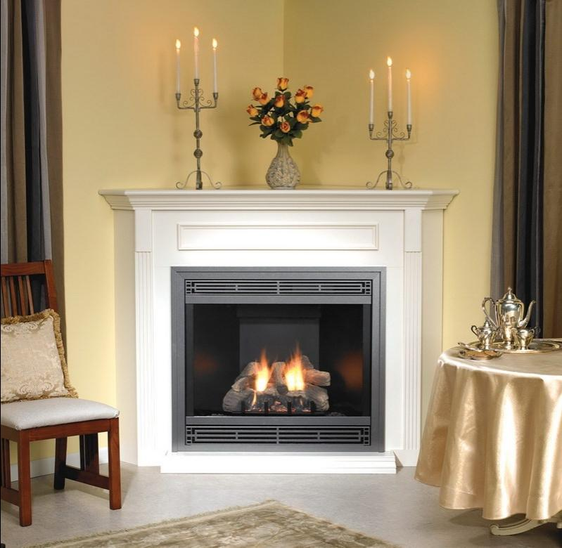Candles In A Fireplace Pictures: Decorating Fireplace With Candles Photos