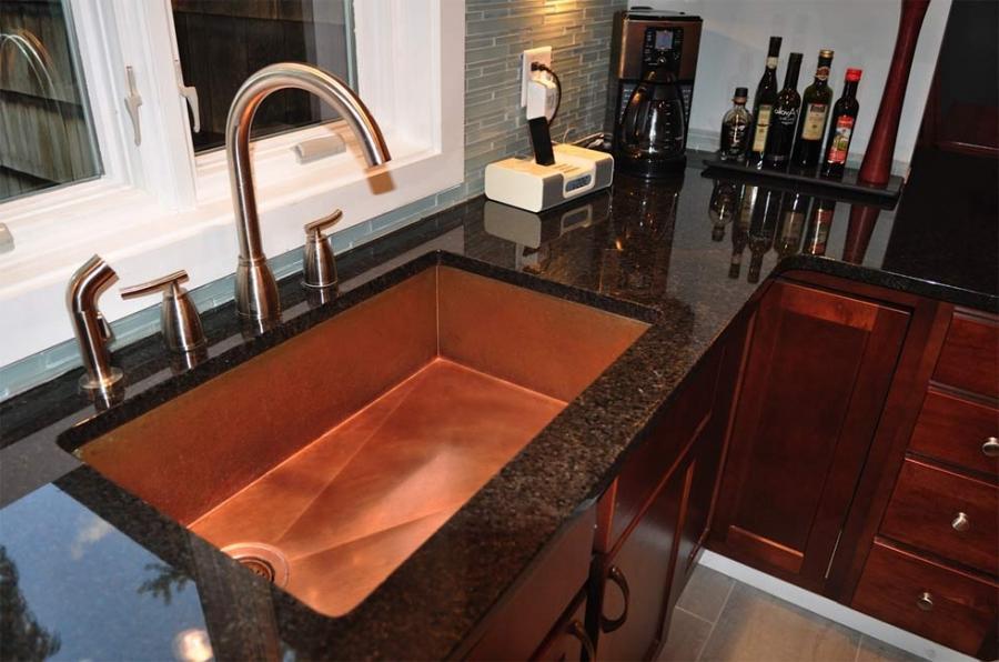 photos of copper kitchen sinks