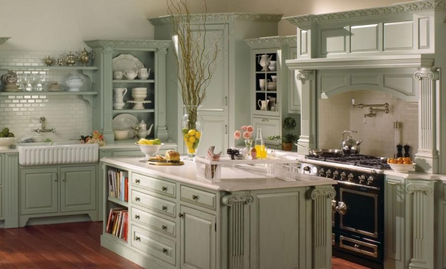 Outstanding french country kitchen design with fancy furniture...
