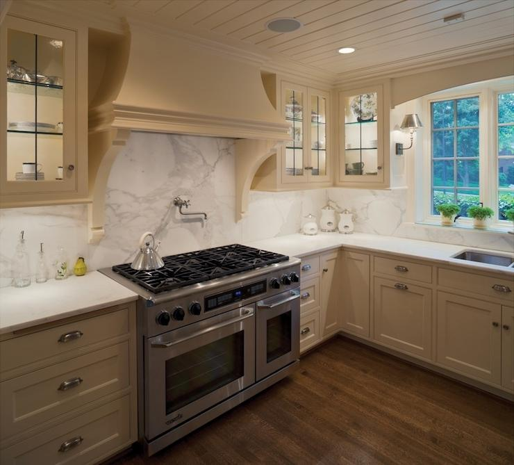 Kansas City Homes Gardens  kitchens  beige kitchen cabinets,