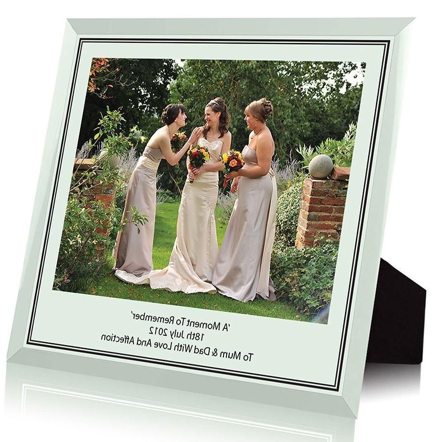 glass engraved photo frame