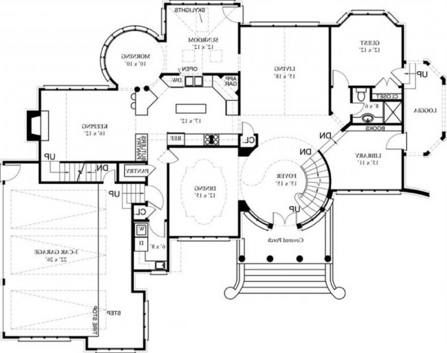 Small luxury floor plans modern house New luxury house plans