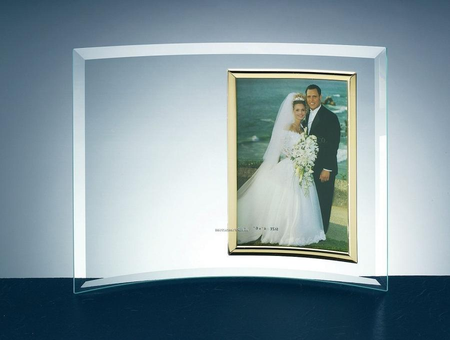 Curved glass photo frame wholesale