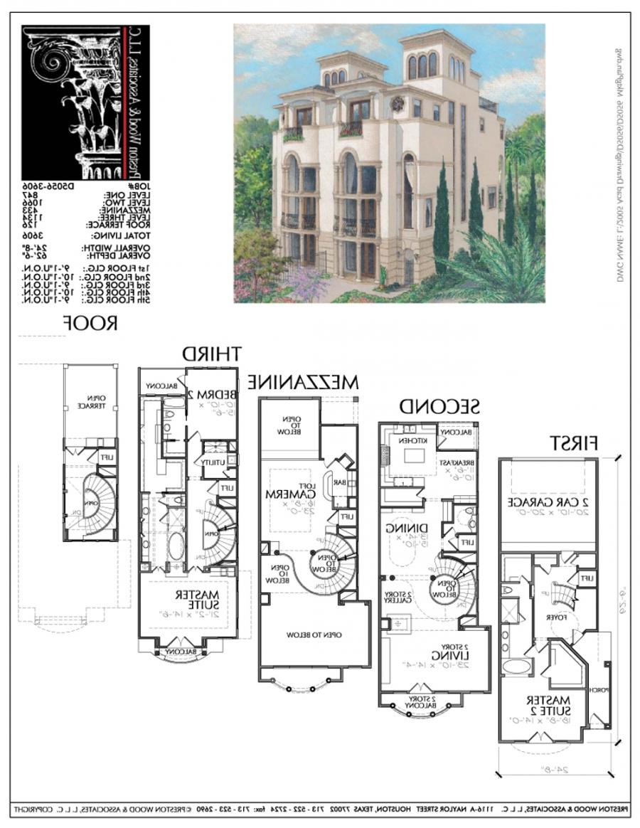 Townhouse plans with photos for Townhouse design plans