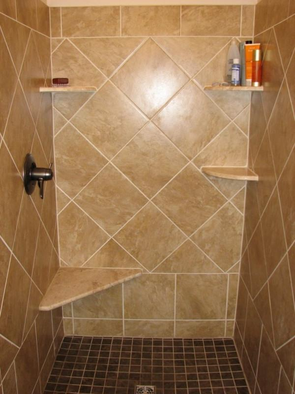 Ceramic tile shower photos for Ceramic bathroom tile designs