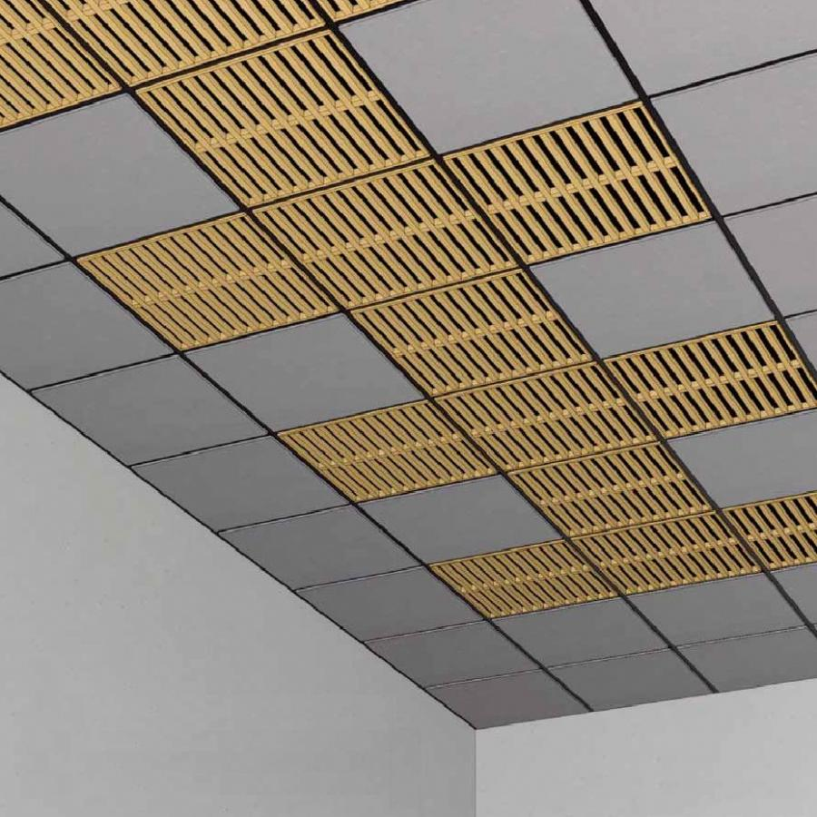 Wood panel for suspended ceiling / wire mesh - LAUDER...