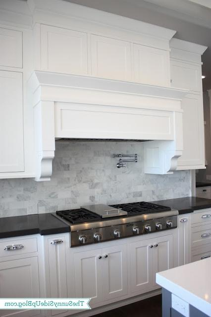 Carrara marble subway tile backsplash photos