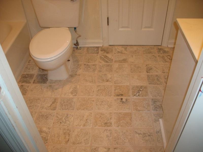 Bathroom Tile Floor - Finished