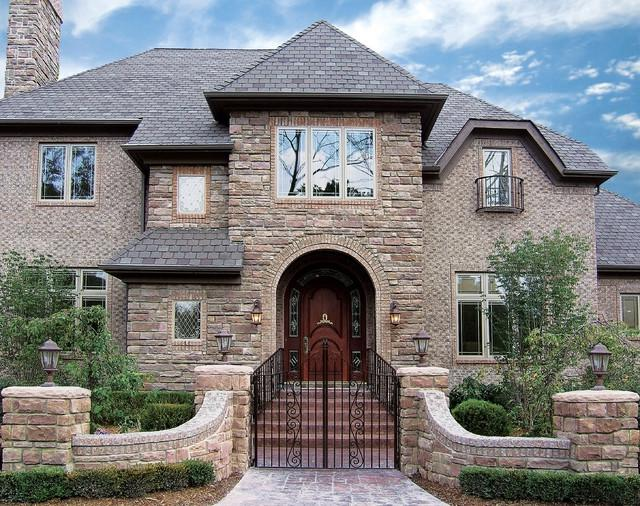 Stone and brick house exteriors art decor home designs awesome