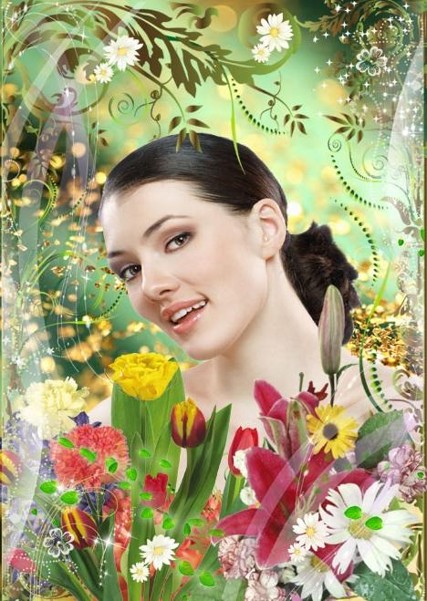 Flower frame photo effects