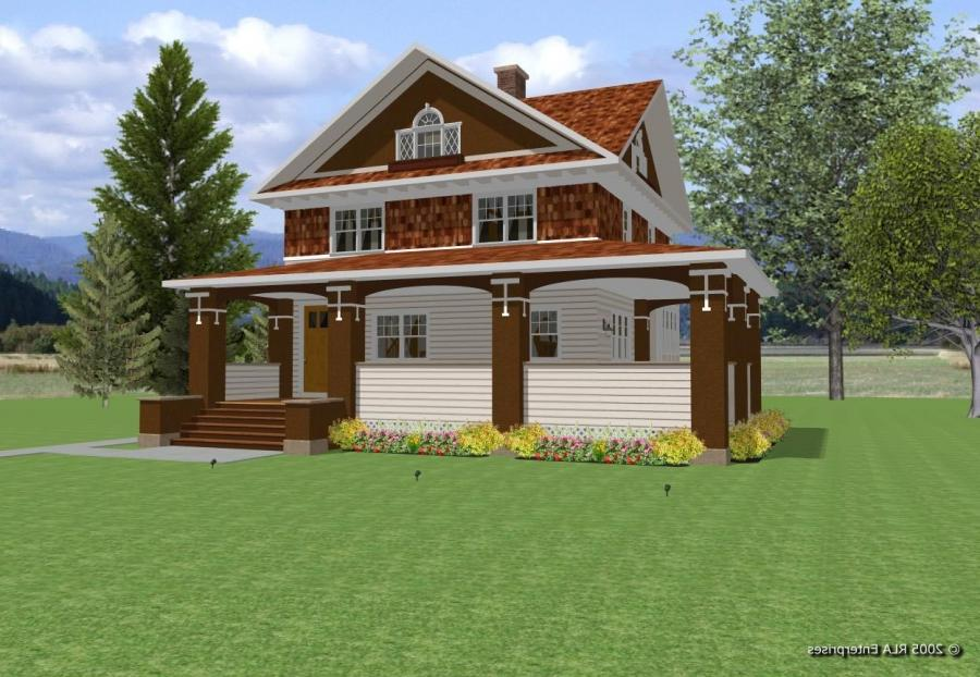 This is an almost straight-on view. Itu a very handsome house,...