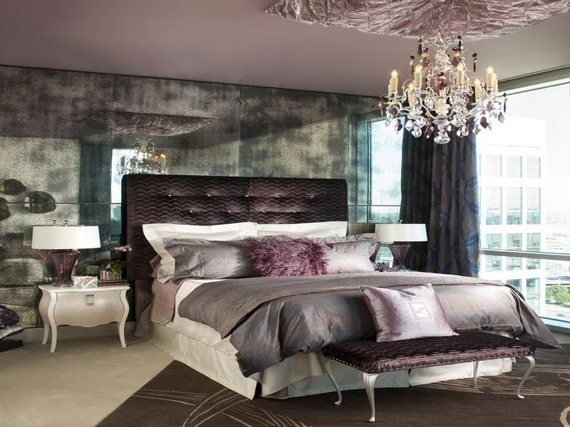 Elegant bedroom photos for Elegant purple bedroom ideas