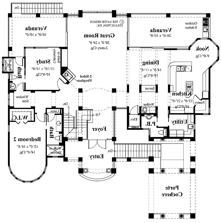 Houses with porte cochere photos for Porte cochere house plans