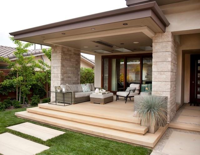 Modern porch design photos for Modern portico designs