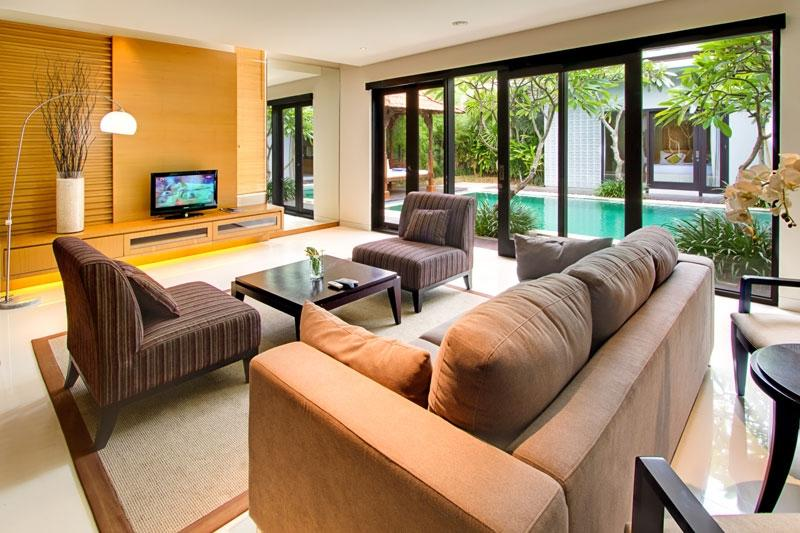Contemporary Balinese Living Room Large Interior The Right At