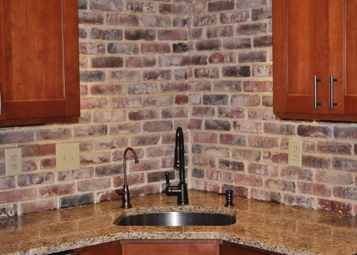brick veneer backsplash veneer pinterest source