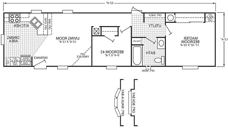 Clayton mobile home floor plans photos for Mobile home floor plans florida