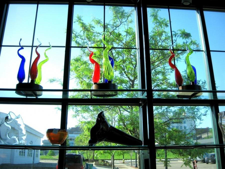 Window at Akron Glass Works by Cliff Helsel