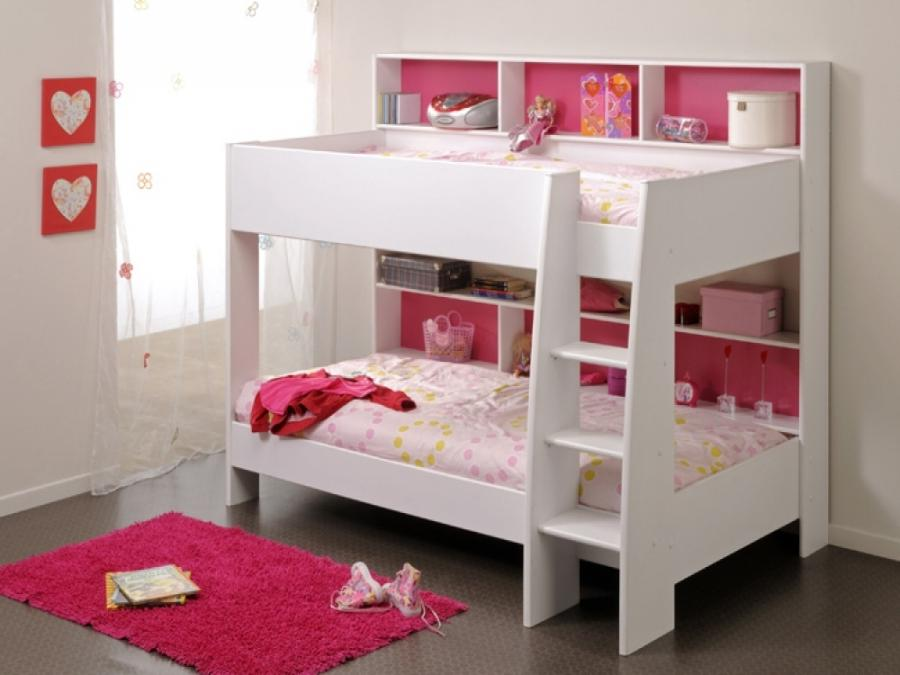 Parisot Tam Tam White  Pink Bunk Bed