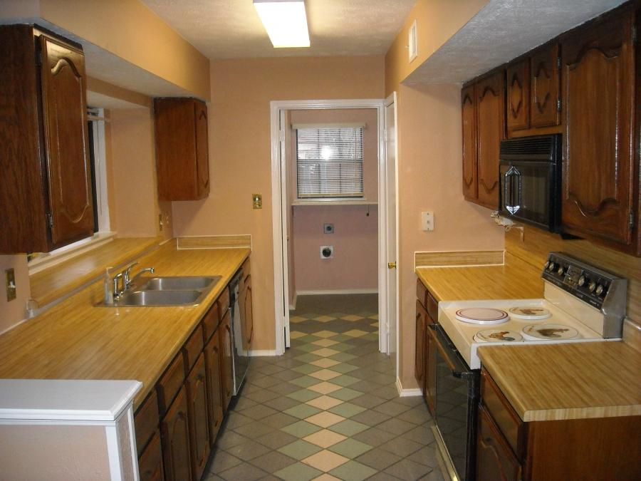 Corridor style kitchen photos for Galley kitchen cabinets for sale