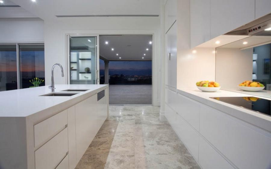 Contemporary Kitchen Harkaway. Caesarstone Benchtops. 2 pack...